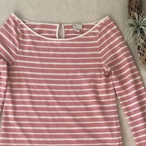 Anthro Postmark Boatneck Striped Top sz S
